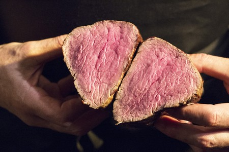 provenance: A fillet of beef cut into two pieces