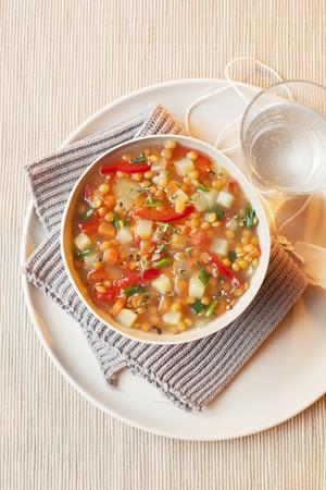Mediterranean lentil soup with red lentils LANG_EVOIMAGES