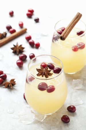 Spiced Apple juice with cranberries