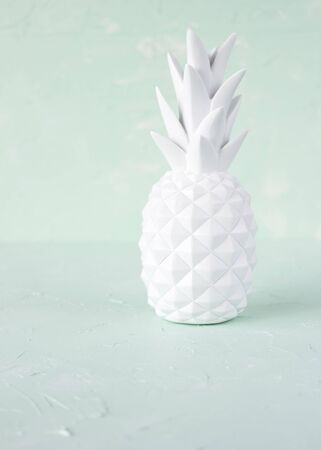 whiteness: A white porcelain pineapple decoration