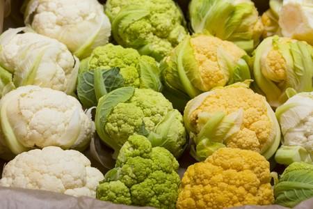 Tricolor baby cauliflower