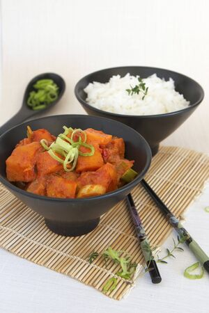 butternut: Thai Red Butternut Curry with Jasmine Rice