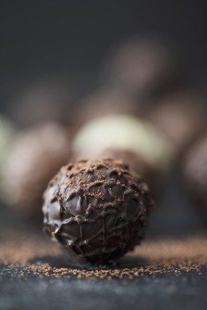 Praline truffles with cocoa powder LANG_EVOIMAGES