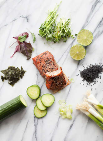 fingerfood: Ingredients for Asian Salmon Fingerfood LANG_EVOIMAGES