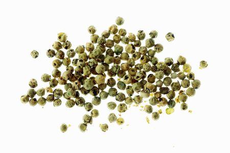 Green peppercorns (top view)