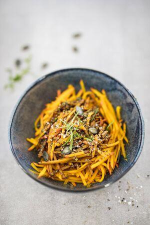 pit fall: Pumpkin noodles with pumpkin seed pesto