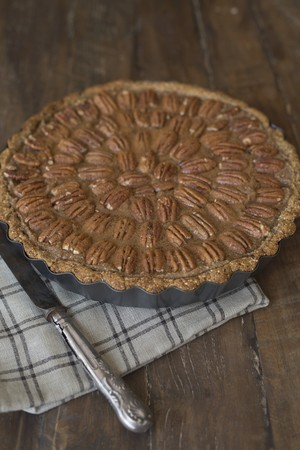 pecan pie: Vegan pecan pie