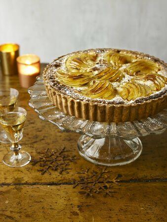 pip: Pear, Almond Tart with Cinnamon Icecream