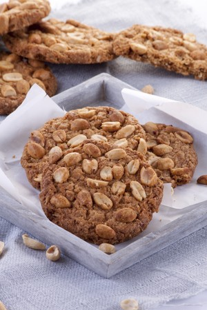 roughage: Healthy oat biscuits with peanuts