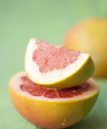 pinky: Pieces of pink grapefruit