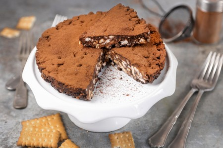 choc: cocoa cake and biscuits without baking