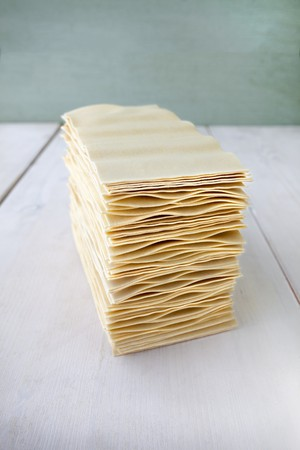 one sheet: A stack of lasagne sheets