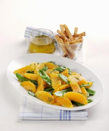 Insalata di taccole e arance (Italian mangetout & orange salad)