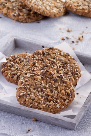 galletas integrales: Healthy wholemeal biscuits with seeds