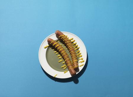 frankfurters: Frankfurters with mustard