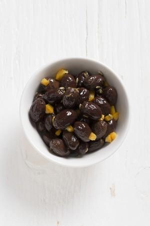 whiteness: Salentina olives with orange