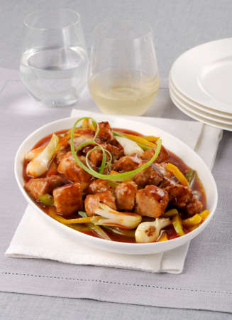 whiteness: Pork ragout with vegetables