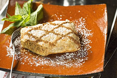 filo pastry: Cinnamon chicken in filo pastry