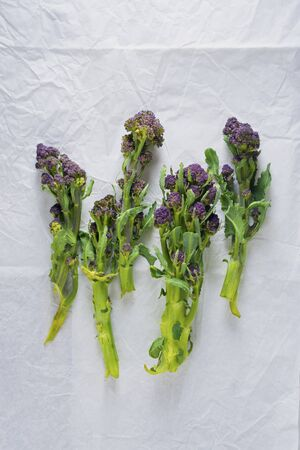 Purple sprouting broccoli (seen from above)