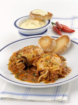 livorno: Seppie stufate (braised squid, Italy)