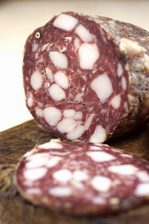 Sagiciotto (salami from Molise, Italy)