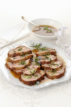 veal sausage: Roast veal wrapped in ham with rosemary LANG_EVOIMAGES