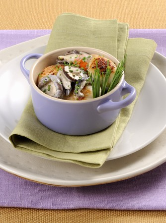 coquille: Scallops with mushrooms LANG_EVOIMAGES