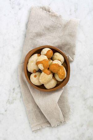 mojo: Papas arrugadas potatoes with mojo sauce (from the Canary Islands)
