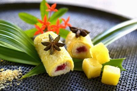 Pandan crêpe rolls (Asia) LANG_EVOIMAGES