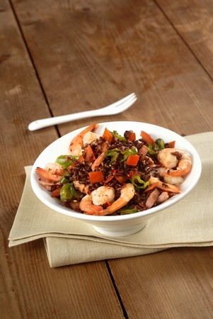 creole: Jambalaya (rice with vegetables, meat and seafood)