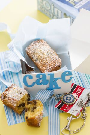 foil: Mini raisin cakes dusted with icing sugar LANG_EVOIMAGES