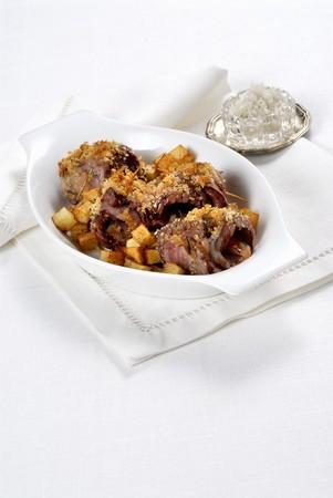 carnes y verduras: Riel de ternera con patatas