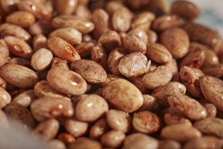 macerated: Soaked pinto beans