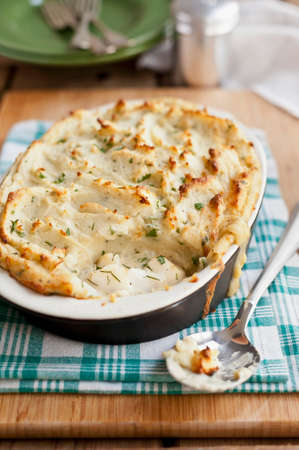 Fish pie with a potato topping