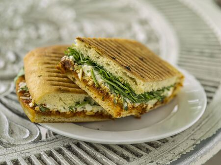 panino: Panini filled with cheese and vegetables