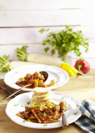 Radish and meat ragout
