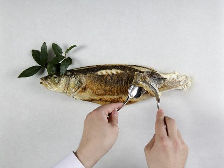 A bass being filleted (German Voice Over)