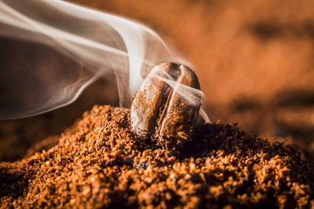 The aroma of freshly ground coffee LANG_EVOIMAGES