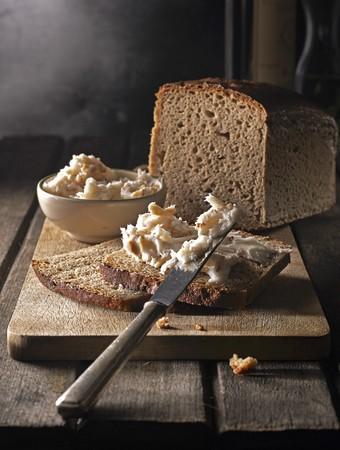 Bread with homemade lard