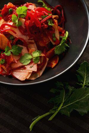 spice: An apple, beetroot, kohlrabi and coriander salad