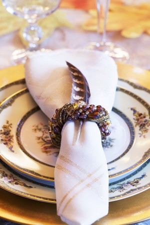 napkin ring: A festive place setting for Thanksgiving