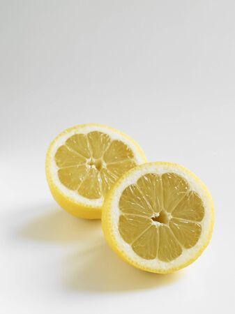 ascorbic acid: Lemon halves