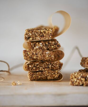 A stack of flapjacks with baking paper