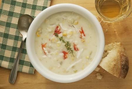 chowder: King crab corn chowder
