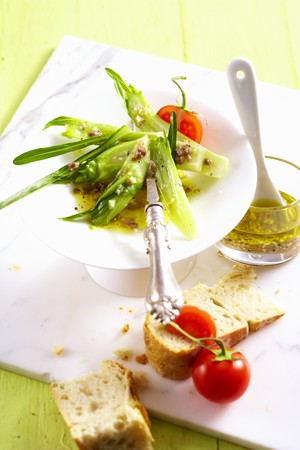 Puntarelle alla Romana with an anchovy dressing