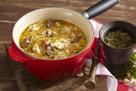 sopa: Sopa de menudillos de pollo (chicken giblet soup, Barcelona) LANG_EVOIMAGES