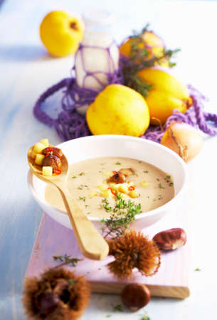 Chestnut and quince soup