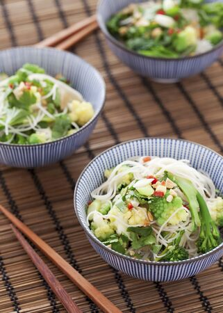 Vegetable noodle salad with coriander (Asia) LANG_EVOIMAGES