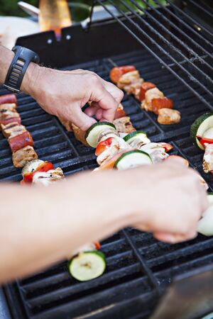provenance: Kebabs on a barbecue
