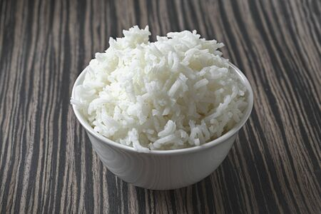 A bowl of cooked basmati rice